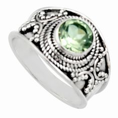 925 silver 2.58cts natural green amethyst solitaire ring jewelry size 8 r16204