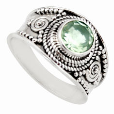 2.58cts natural green amethyst 925 sterling silver solitaire ring size 8 r16208