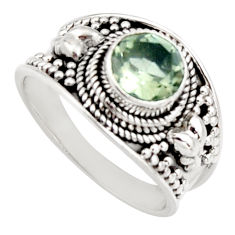2.46cts natural green amethyst 925 silver solitaire ring jewelry size 8 r16212