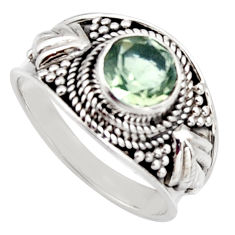 2.34cts natural green amethyst 925 silver solitaire ring jewelry size 8 r16213