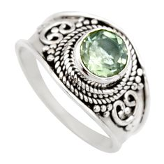 2.21cts natural green amethyst 925 silver solitaire ring jewelry size 9 r16218