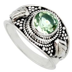 925 silver 2.46cts natural green amethyst solitaire ring jewelry size 8 r16220