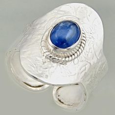 2.11cts natural blue kyanite 925 silver solitaire adjustable ring size 9 r16325