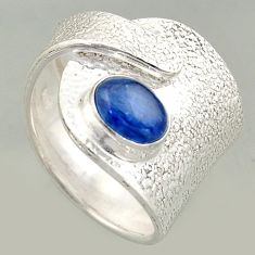 2.23cts natural kyanite 925 silver solitaire adjustable ring size 7.5 r16326
