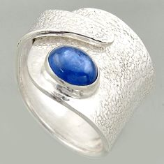 2.23cts natural kyanite 925 silver solitaire adjustable ring size 8.5 r16328
