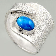 2.35cts natural apatite 925 silver solitaire adjustable ring size 8 r16335