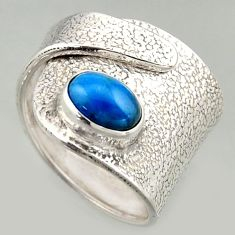 925 silver 2.13cts natural apatite solitaire adjustable ring size 5.5 r16337