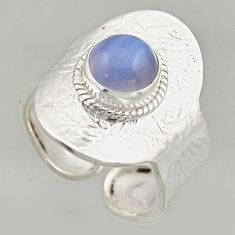 3.01cts natural lace agate 925 silver solitaire adjustable ring size 9.5 r16401