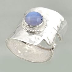 3.53cts natural lace agate 925 silver solitaire adjustable ring size 8.5 r16410