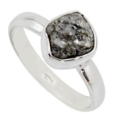 3.59cts natural certified diamond rough 925 sterling silver ring size 8 r16606