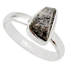 3.83cts natural certified diamond rough 925 sterling silver ring size 8 r16622