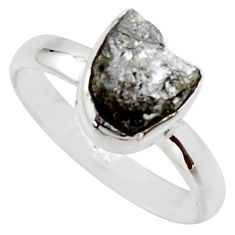 3.83cts natural certified diamond rough 925 sterling silver ring size 8 r16626