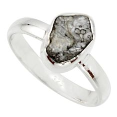 3.59cts natural certified diamond rough 925 sterling silver ring size 8 r16628