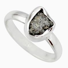 3.59cts natural certified diamond rough 925 sterling silver ring size 8 r16629