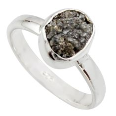 3.59cts natural certified diamond rough 925 sterling silver ring size 7 r16631