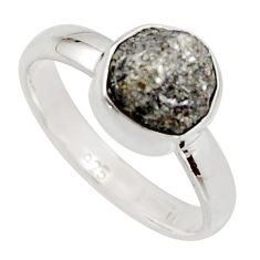 3.56cts natural certified diamond rough 925 sterling silver ring size 6 r16632