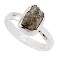 3.59cts natural certified diamond rough 925 sterling silver ring size 7 r16636