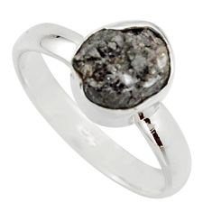 3.59cts natural certified diamond rough 925 sterling silver ring size 7 r16640