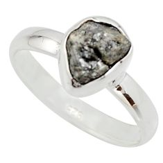3.59cts natural certified diamond rough 925 sterling silver ring size 8 r16642