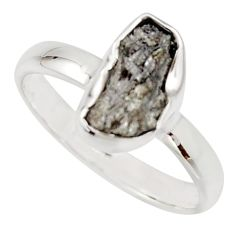3.91cts natural certified diamond rough 925 sterling silver ring size 8 r16643