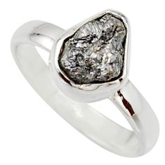 3.59cts natural certified diamond rough 925 sterling silver ring size 7 r16648