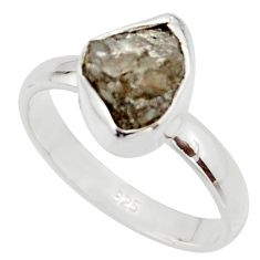 3.59cts natural certified diamond rough 925 sterling silver ring size 7 r16650