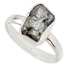 3.62cts natural certified diamond rough 925 sterling silver ring size 7 r16655