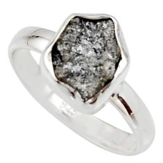 3.59cts natural certified diamond rough 925 sterling silver ring size 8 r16656