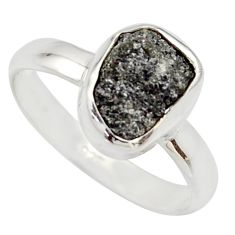 3.59cts natural certified diamond rough 925 sterling silver ring size 8 r16657