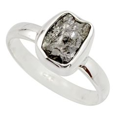 3.18cts natural certified diamond rough 925 sterling silver ring size 7.5 r16658