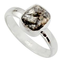 3.59cts natural certified diamond rough 925 sterling silver ring size 7 r16662