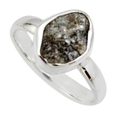 4.18cts natural certified diamond rough 925 sterling silver ring size 8 r16664