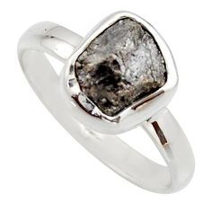 3.83cts natural certified diamond rough 925 sterling silver ring size 8 r16665