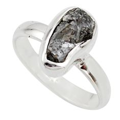 3.59cts natural certified diamond rough 925 sterling silver ring size 7 r16666