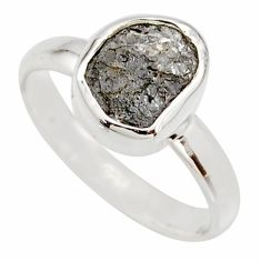 3.59cts natural certified diamond rough 925 sterling silver ring size 7 r16673
