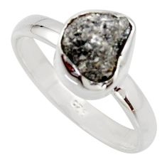 3.59cts natural certified diamond rough 925 sterling silver ring size 8 r16675
