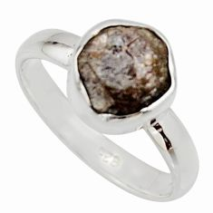 3.59cts natural certified diamond rough 925 sterling silver ring size 7 r16680
