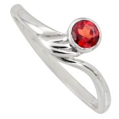 0.40cts natural red garnet 925 sterling silver solitaire ring size 6 r6630