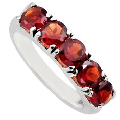 4.21cts natural red garnet 925 sterling silver ring jewelry size 6.5 r6711