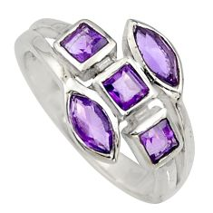 2.61cts natural purple amethyst 925 sterling silver ring jewelry size 7.5 r6783