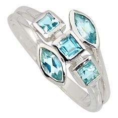925 sterling silver 2.95cts natural blue topaz ring jewelry size 9 r6784