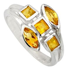 2.78cts natural yellow citrine 925 sterling silver ring jewelry size 6.5 r6798