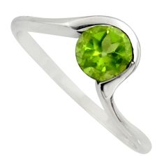 1.10cts natural green peridot 925 silver solitaire ring jewelry size 8 r6845