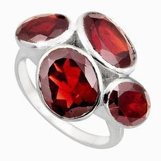 11.62cts natural red garnet 925 sterling silver ring jewelry size 8.5 r6895