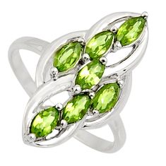 2.78cts natural green amethyst 925 sterling silver ring jewelry size 7.5 r7425
