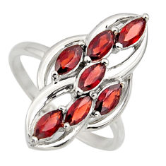 2.61cts natural red garnet 925 sterling silver ring jewelry size 6.5 r7433