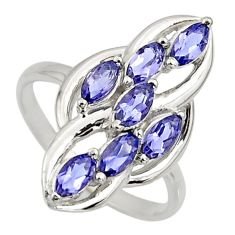 2.78cts natural blue iolite 925 sterling silver ring jewelry size 6.5 r7436