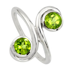 2.09cts natural peridot 925 sterling silver ring jewelry size 6.5 r7447
