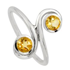2.09cts natural yellow citrine 925 sterling silver ring jewelry size 7.5 r7450