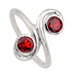 2.07cts natural red garnet 925 sterling silver ring jewelry size 7.5 r7454